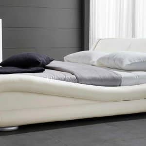 Leather Platform Curvy Bed