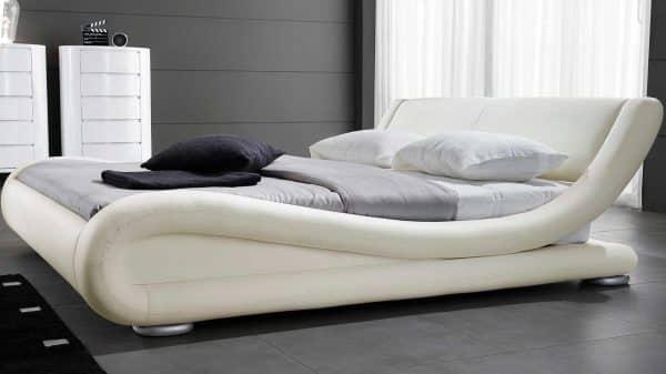 Leather Platform Curvy Bed