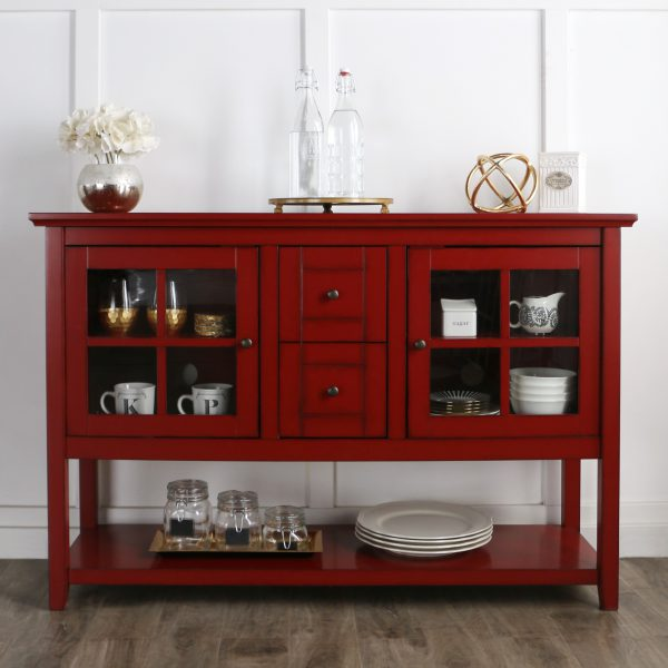 52-inch Antique Red Console Table/ Buffet ( call for more color options)