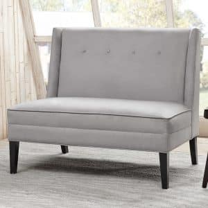 Button Tufted High Back Settee