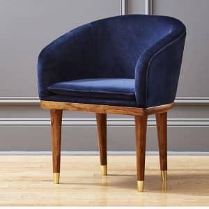 Viceroy sapphire velvet chair