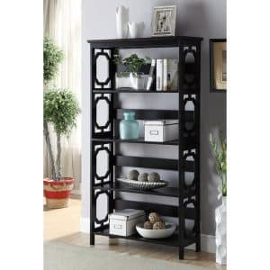 Contemporary Omega 5-tier Bookcase
