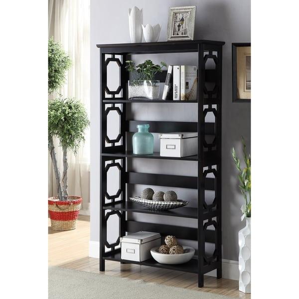 Contemporary Omega 5-tier Bookcase