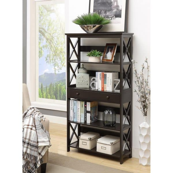 Convenience Oxford 5 Tier Rack with Drawer