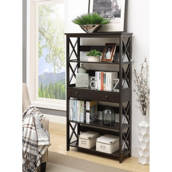 Concepts 5 Tier Bookcase with Drawer