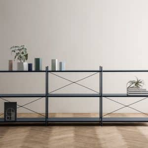 Metallic Living Punctual Shelving
