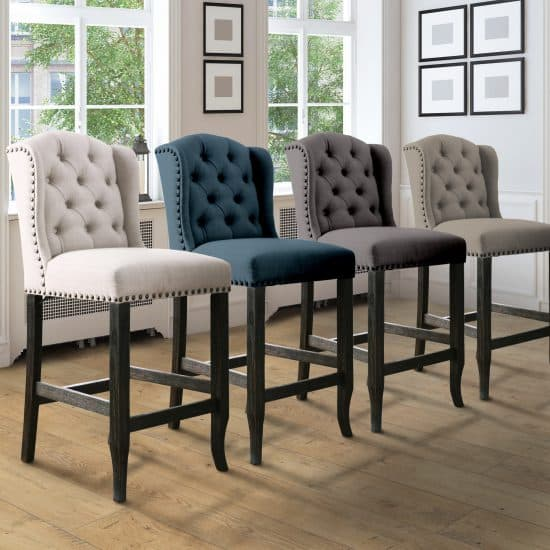 Contemporary Tufted Wingback High Chair