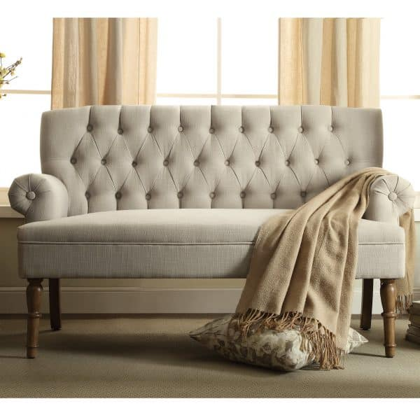 Tufted Upholstered Settee