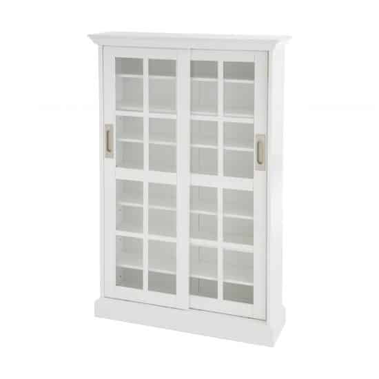 White Sliding Door Cabinet