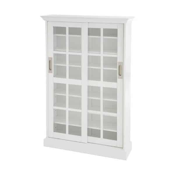White Sliding Door Cabinet