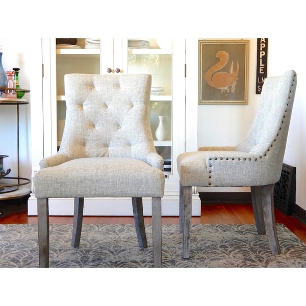 Tufted Nailed Dining Chair