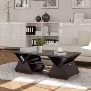 Espresso Geometric Coffee Table