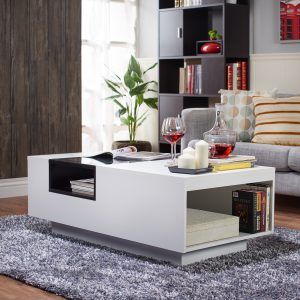 Two-tone White/Black Coffee Table