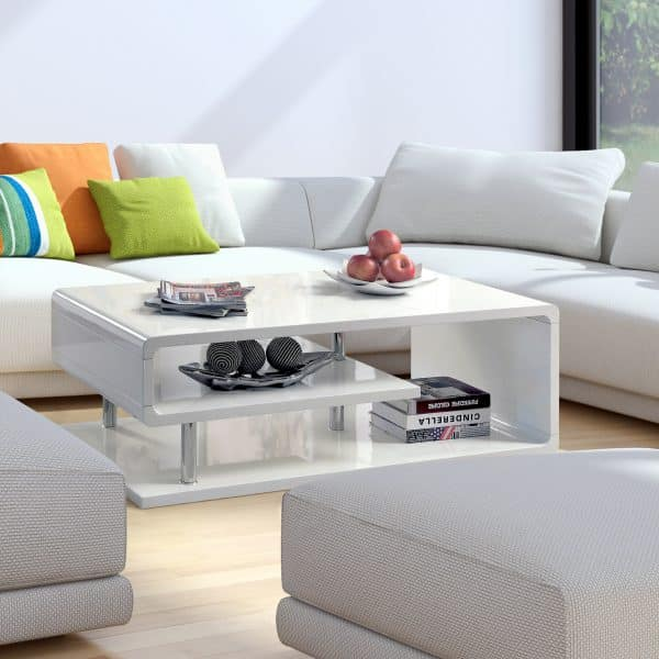 Geometric High Gloss Coffee Table