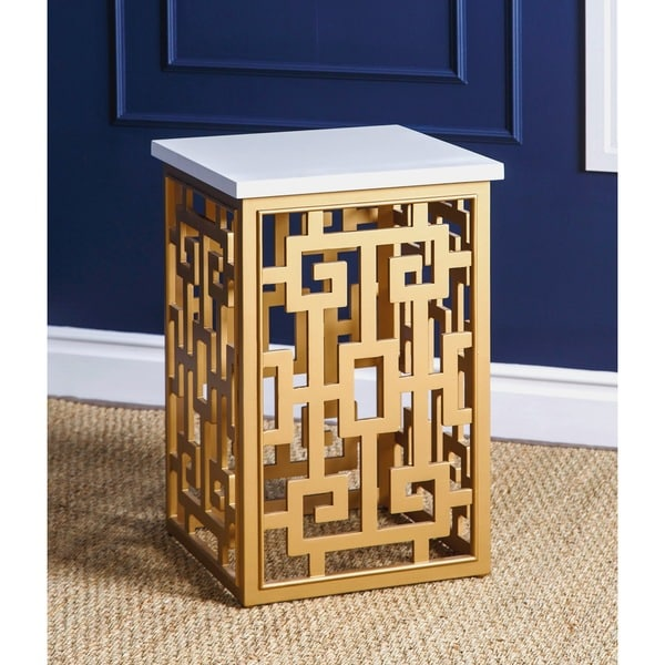 Designer's Gold End Table