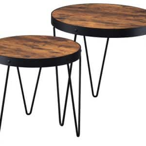 Industrial Style Nesting Tables 2-Piece