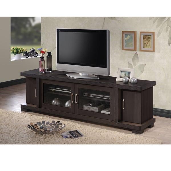 Contemporary 70-inch Dark Brown TV Cabinet
