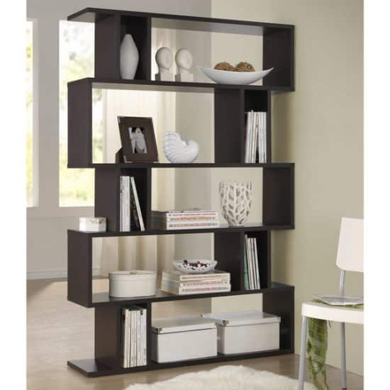 Espresso Modern Storage Shelf