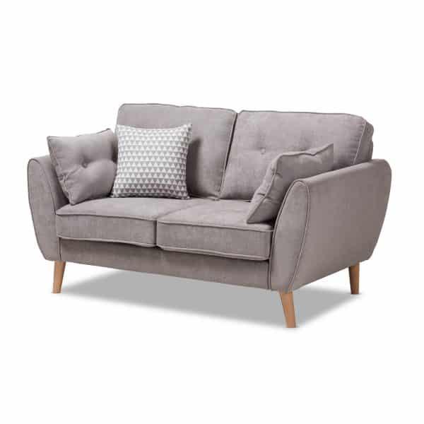Mid-Century Fabric Upholstered sofa 2 seater