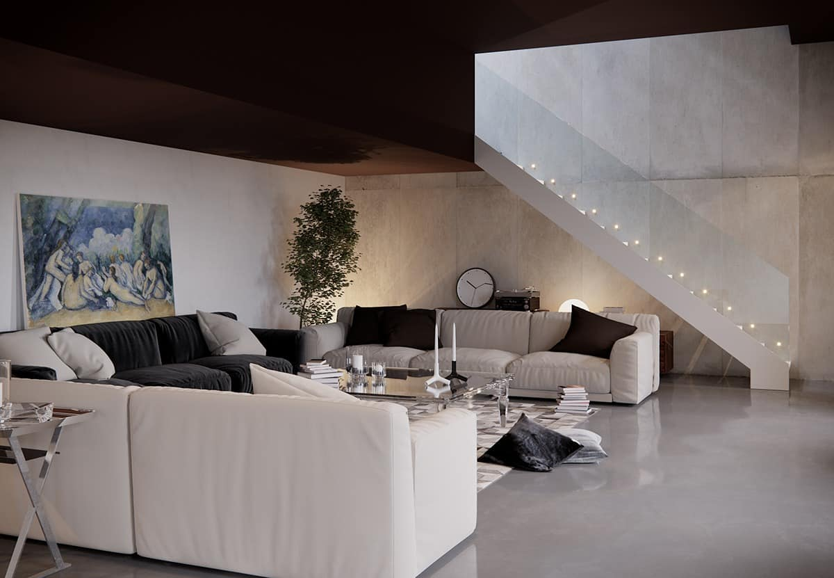 Living Rooms That Demonstrate Stylish Trends - white sofas