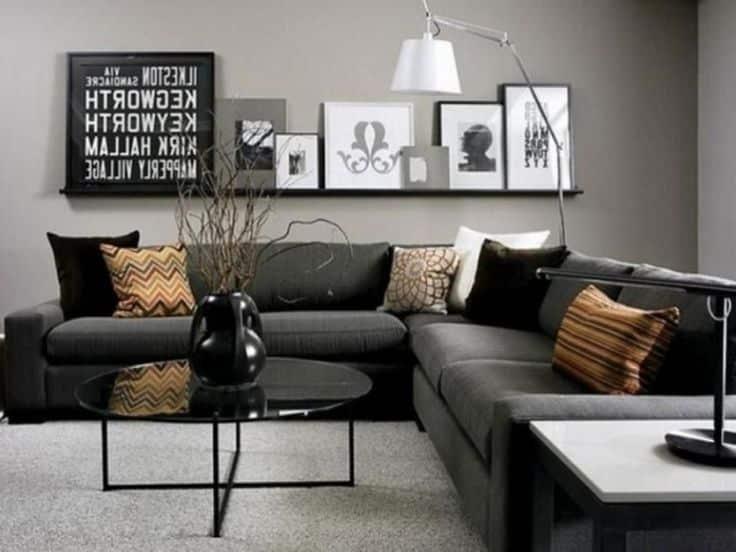 black sofas - Black Living Room Ideas for 2020