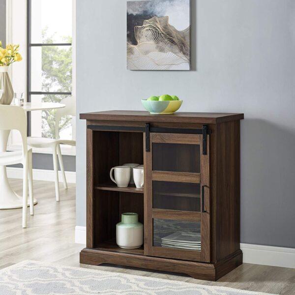 Bar Cabinet Storage – Dark Walnut