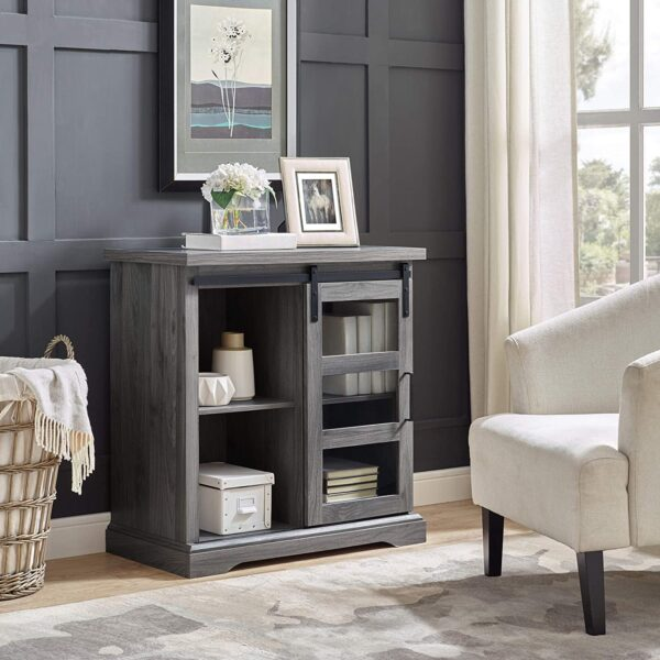 Bar Cabinet Storage – Slate Grey