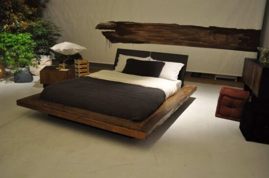 Straight Antique Look Bed