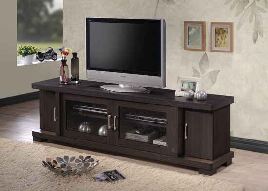 Contemporary 70-inch Dark Brown TV Cabinet
