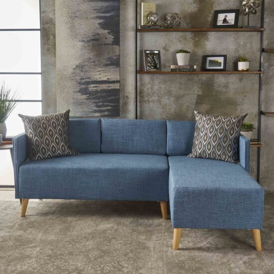Modern 2-piece Chaise Sectional Sofa Set