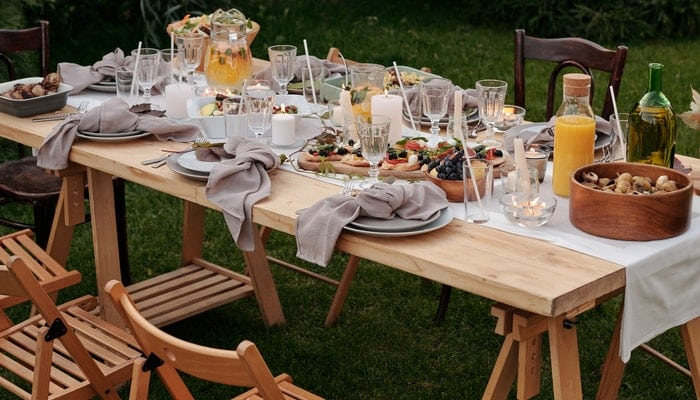 Dine-in with style - Rectangle table set